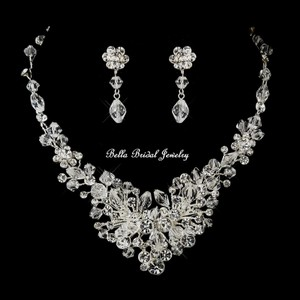 Beautiful Crystal Wedding Necklace Set