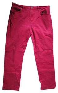 Gloria Vanderbilt Jeans Short Petite Straight Pants Red