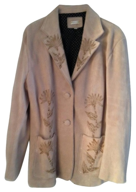 Other Suede With Design Of Plant tan Leather Jacket