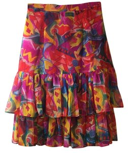 Leslie Lucks Skirt Multi color
