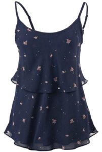 CAbi Top Navy; Pink