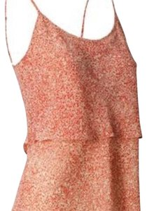 CAbi Top Coral; Orange; Red; Tan; Ivory