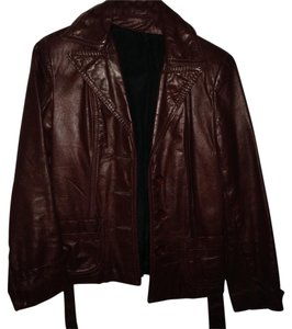 Other Faux burgandy Leather Jacket
