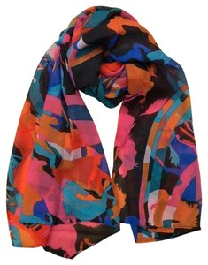 Unknown Abstract chiffon horse scarf free shipping