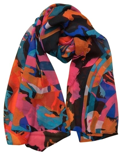 Unknown BOGO Free Abstract chiffon horse scarf free shipping