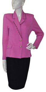 St. John Collection Knit Fuchsia Pink Blazer