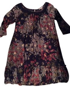 Rebecca taylor short dress Navy multicolor floral on Tradesy