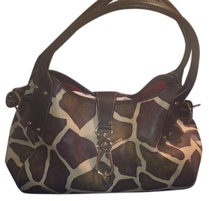 Dooney & Bourke Satchel in Dark Brown/beige