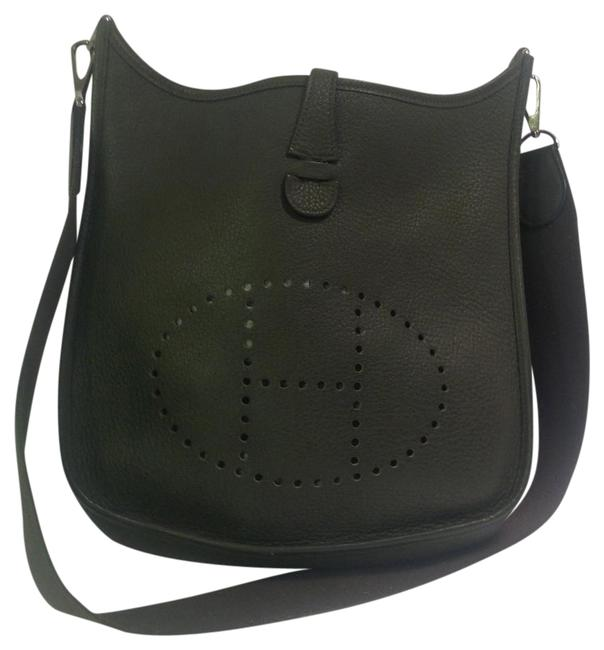 Item - Evelyne Ii Pm In with Palladium Hardware Hunter Green Leather Messenger Bag