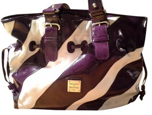 Dooney & Bourke Tote in Purple and white