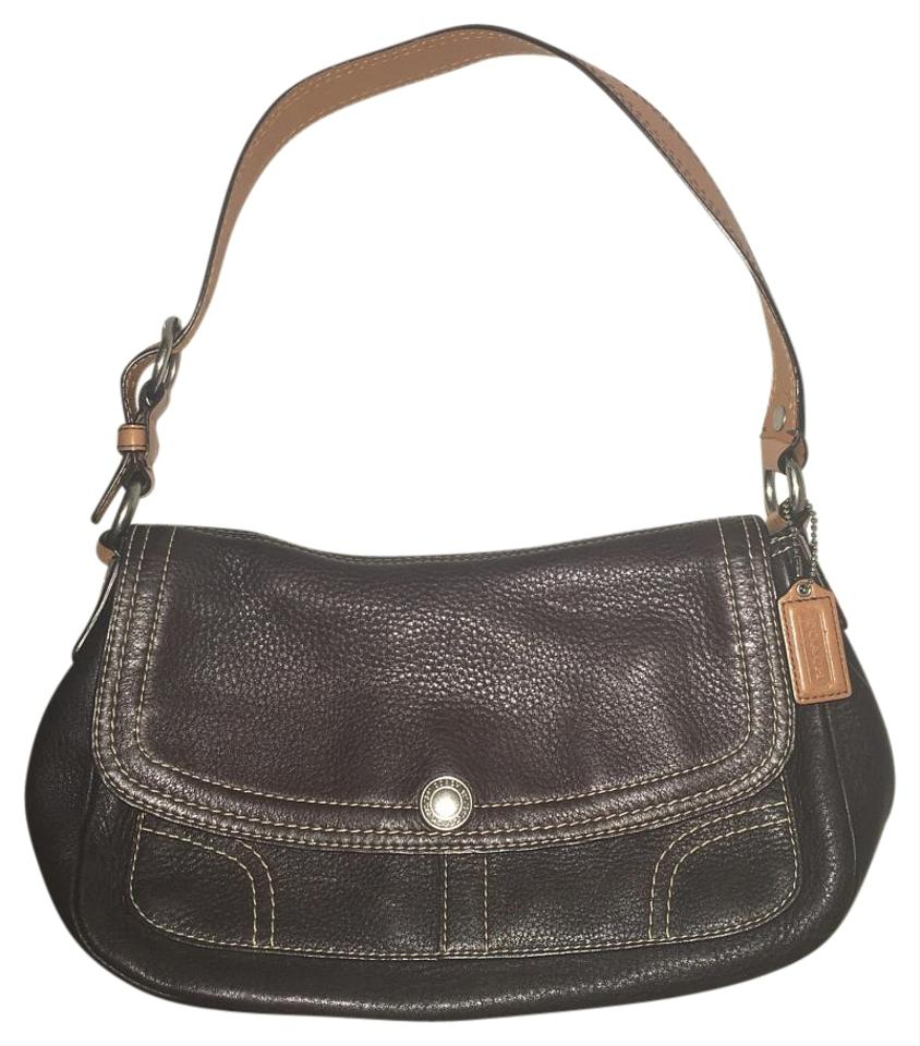 3ac3cc4354c1 Coach Brown and Camel Leather Hobo Bag - Tradesy