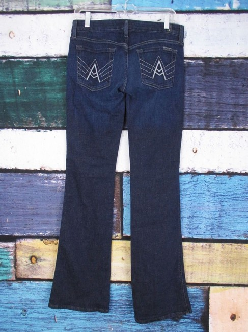 7 For All Mankind Anthropologie Dark Wash A Pocket X Boot Cut Jeans Image 1