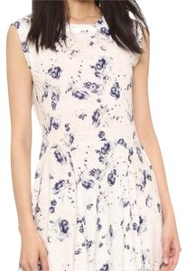 Rebecca Taylor short dress White and Blue- floral pattern on Tradesy