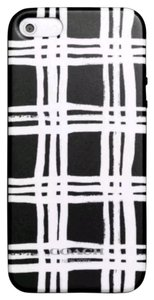 Coach Coach Black White iPhone 5 Case Cover Painted Plaid