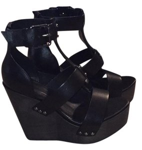 AllSaints Black Wedges