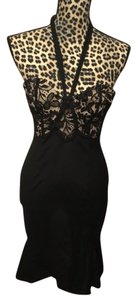 Temperley London Sexy Lace Lbd Halter Fluted Dress