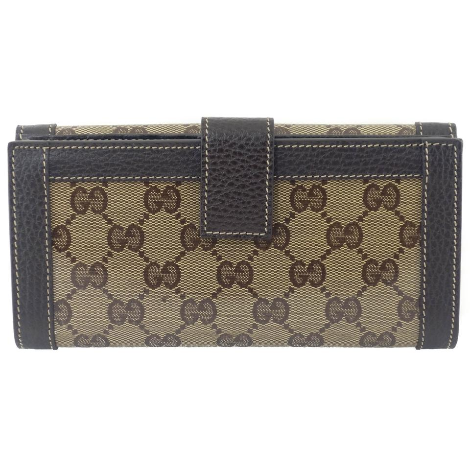 3406a93f696 Gucci GUCCI 231839 Women s GG Guccissima Crystal Coated Canvas Continental  Wallet Image 7. 12345678