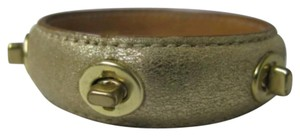 Coach Coach Metallic Fold Leather Bangle Turn Lock