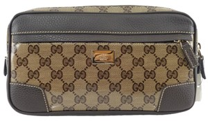 Gucci 336672 Belt Crystal Beige, Brown Travel Bag