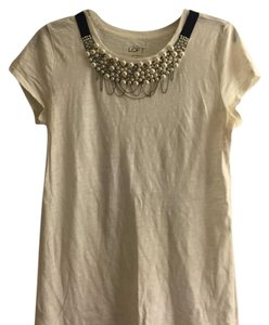 Ann Taylor LOFT Top White, black