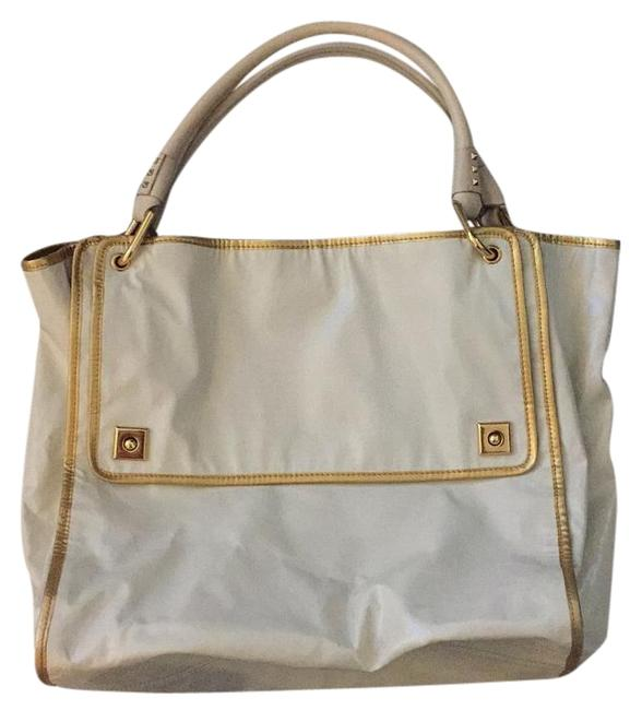 Item - (Not By Off White and Gold Leather Tote