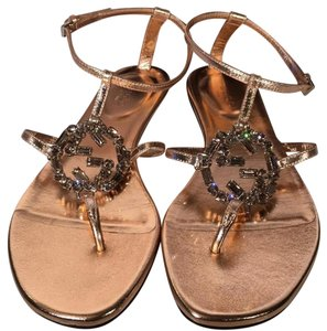 Gucci Rose Gold Sandals