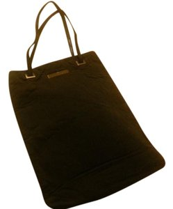 Trussardi Structured Vintage Leather Chic Tote in black