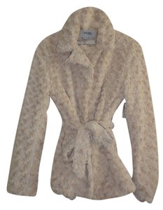 Sisters Knit Outerwear Faux Fur Textured Soft beige/cream Jacket