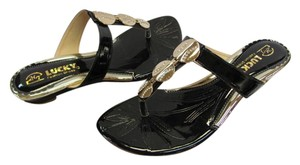Lucky Brand New Size 8.50 M Black, Gold Sandals