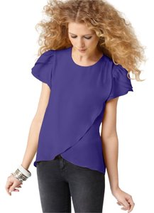 BCBGeneration Wrap Summer Formal Top Violet