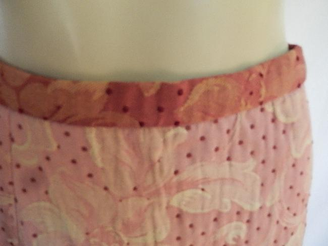 True Meaning Textured Poly Blend Polkla Dots Fancy Lining New Mini Skirt Pale Red Image 5