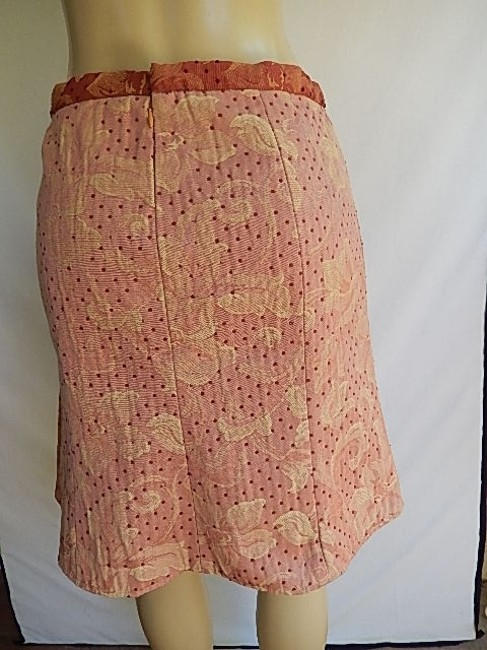 True Meaning Textured Poly Blend Polkla Dots Fancy Lining New Mini Skirt Pale Red Image 7
