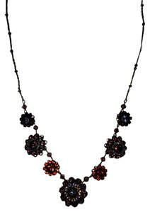 GORGEOUS Liz Palacios Multi Color Flower Crystal Necklace