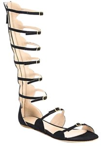 Giambattista Valli Gladiator Italian Tan Black Sandals