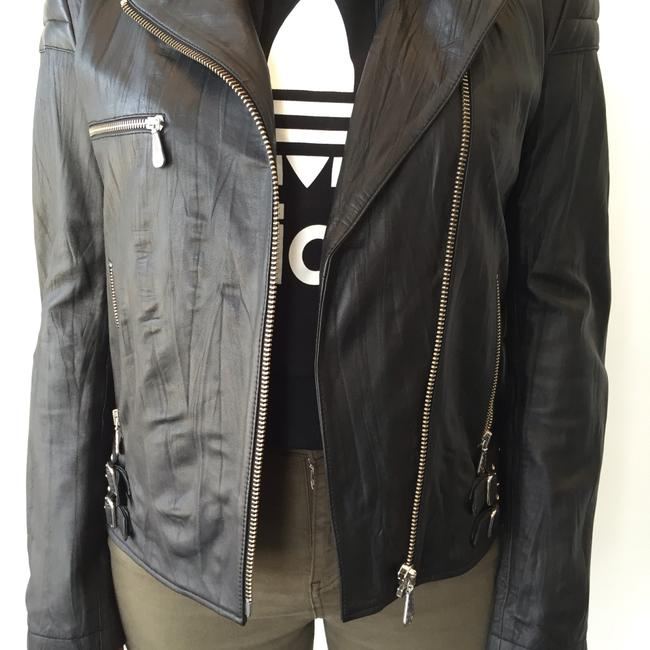 MCQ by Alexander McQueen Moto Leather Jacket Image 6