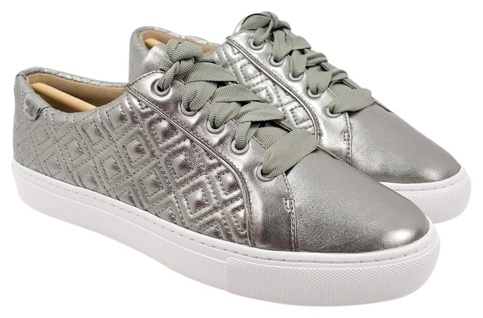 e51487e03a2 Tory Burch Gunmetal Marion Quilted Sneakers Sneakers Size US 9 ...