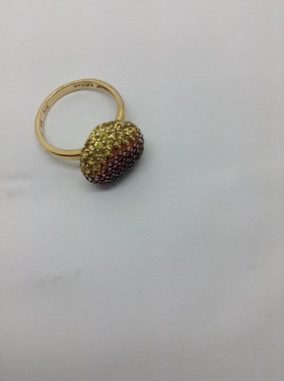 LeVian Red Ruby, Pink, orange, Yellow sapphire, heart ring Image 2