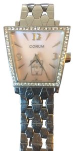 Corum Ladies Corum Trapeze Stainless w/ Diamonds & Pink Mother of Pearl Face