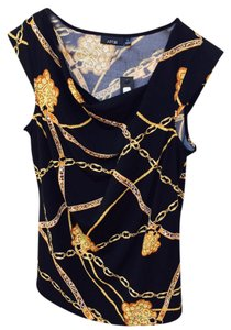 Apt. 9 Top Black with gold design