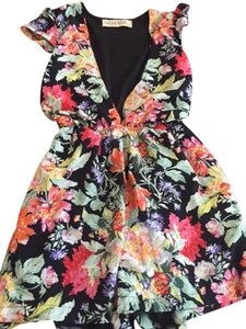 Reverse Urban Outfiters Floral Deep V Dress