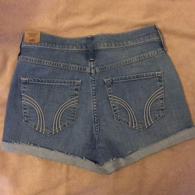 Hollister High Rise Cuffed Shorts Faded light blue Image 1