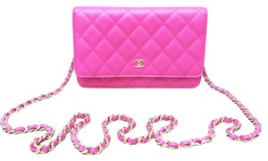 Chanel Leather Woc Wallet On Chain Shoulder Cross Body Bag