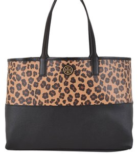 Tory Burch Tote in Black and Tan