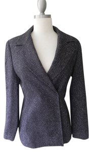 Kate Hill Wool Black and White Tweed Blazer