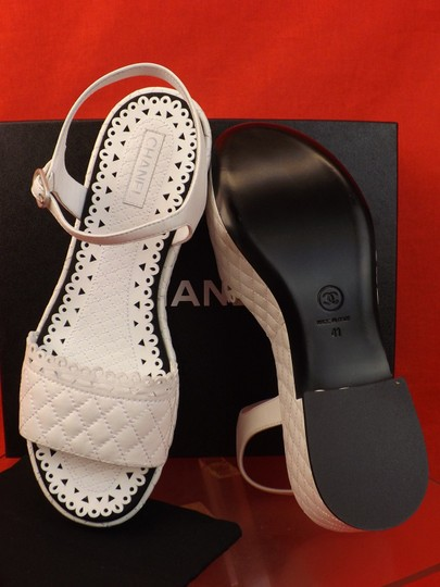 Chanel White Sandals Image 5