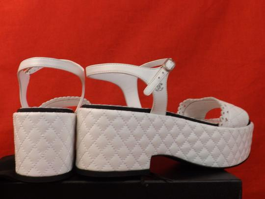 Chanel White Sandals Image 3