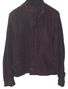 John Varvatos Brown Leather Jacket