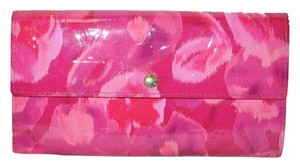 Louis Vuitton Authentic Limited Edition Louis Vuitton Indian Rose Pink Vernis Ikat Sarah Wallet