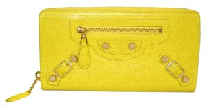 Balenciaga Authentic Balenciaga Yellow Giant Continental Zip Around Wallet
