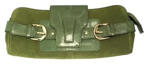 Banana Republic Gold Hardware Date Night Night Out Green Leather Clutch